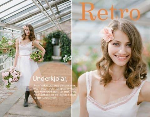 42973162c8f6 En kortare brudklänning med petticoatkjol och en spektakulär håraccessoar  istället för slöja kommer ge din look den där speciella 50-tals-charmen.