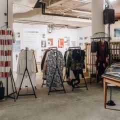 Pop up-butik lånar ut designkläder